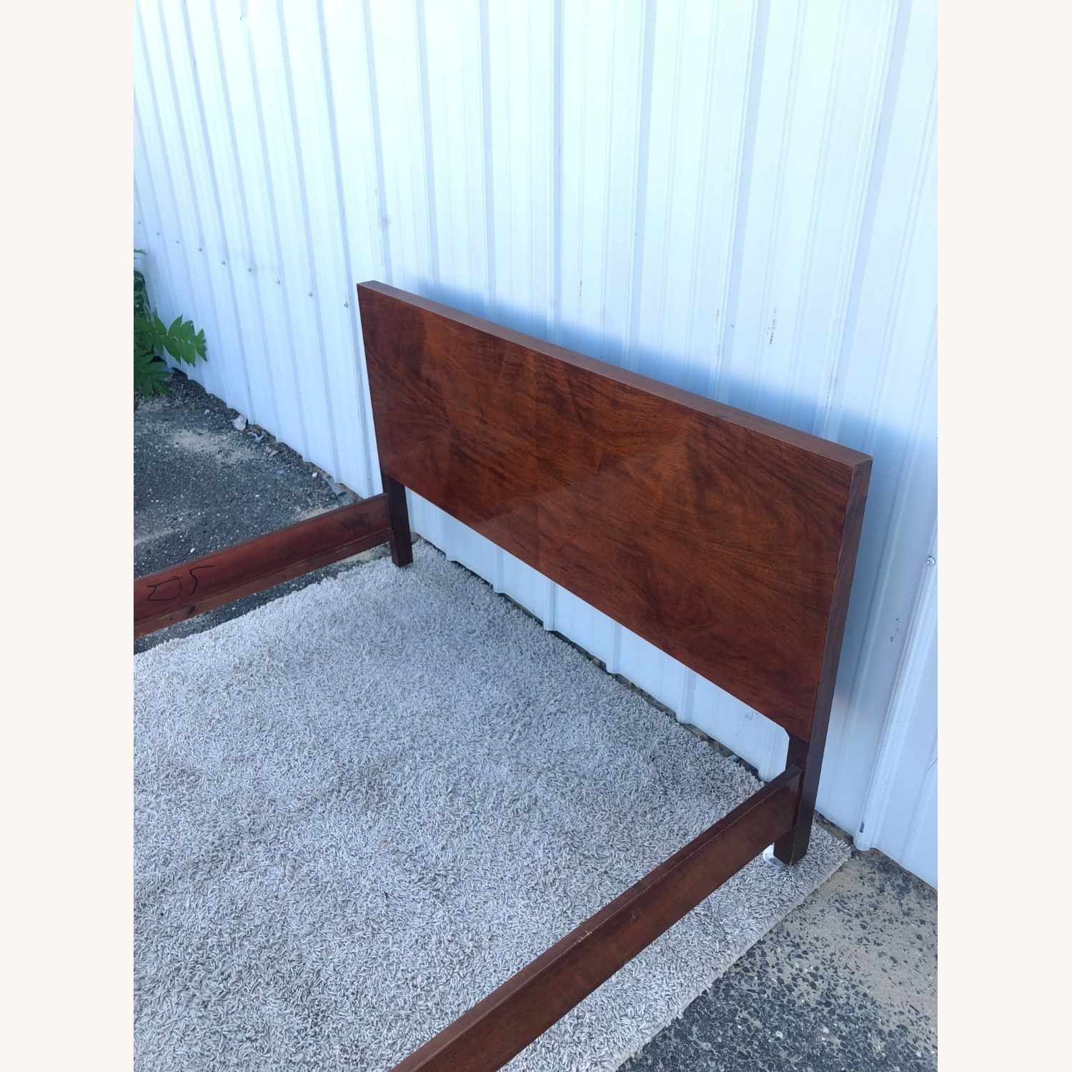 Mid Century Full Size Bed Frame in Mahogany - image-8