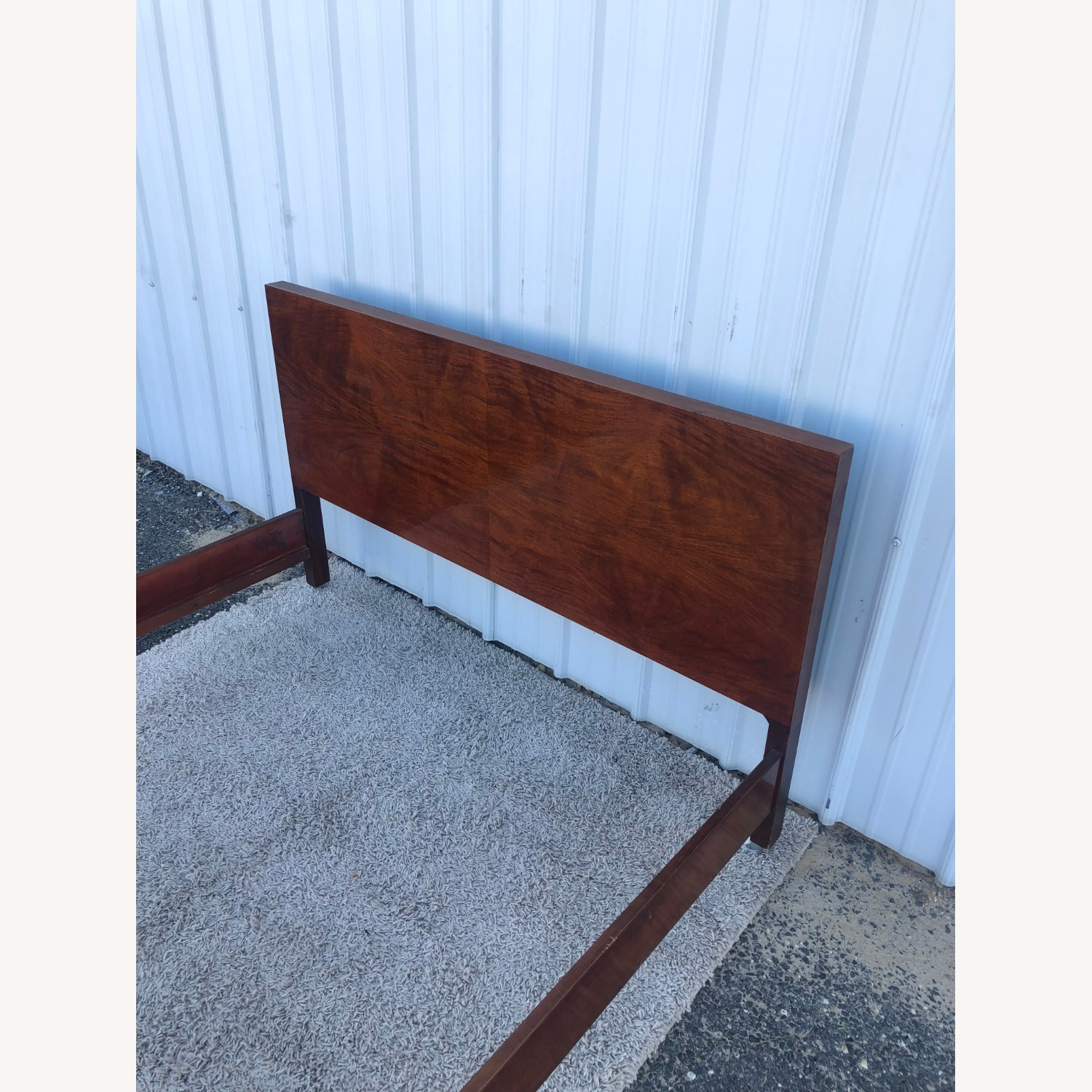 Mid Century Full Size Bed Frame in Mahogany - image-4