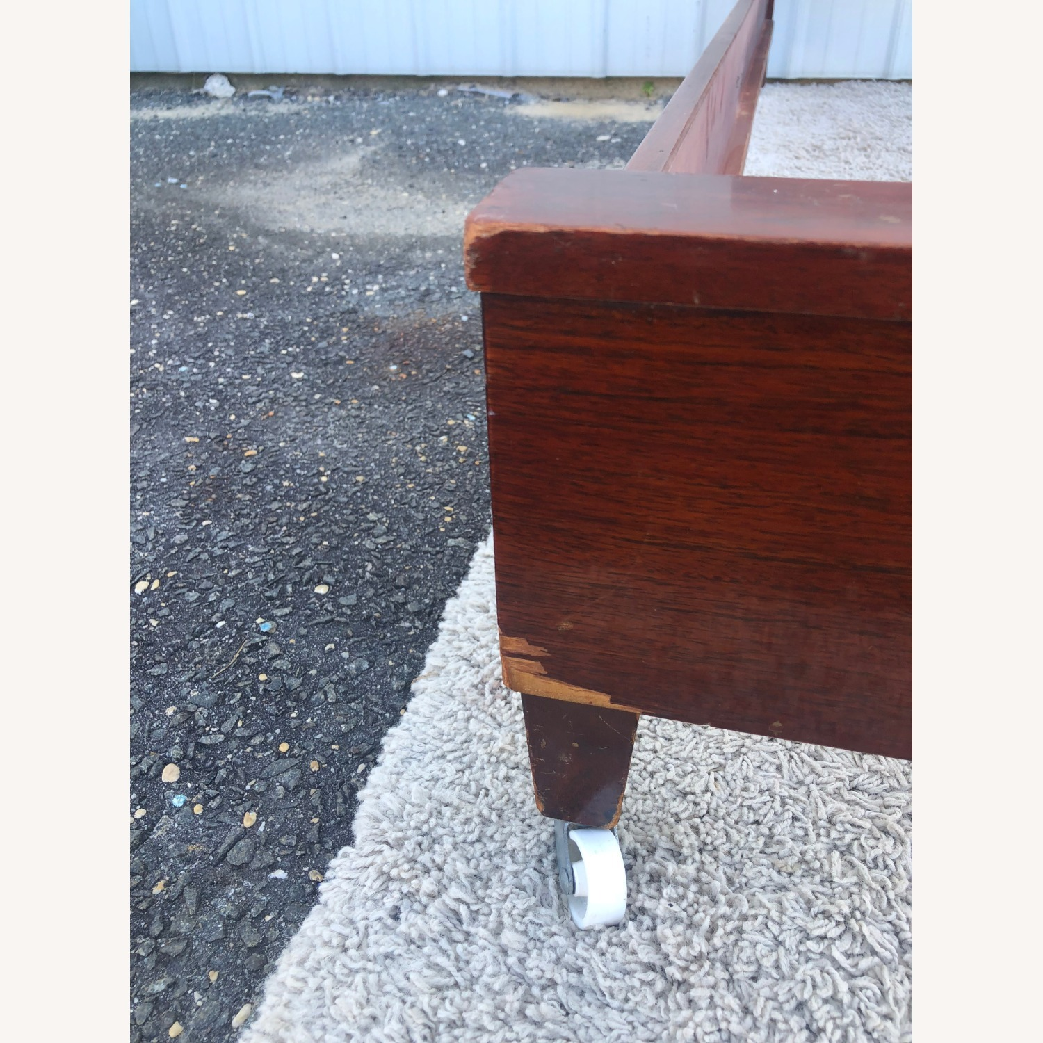 Mid Century Full Size Bed Frame in Mahogany - image-11