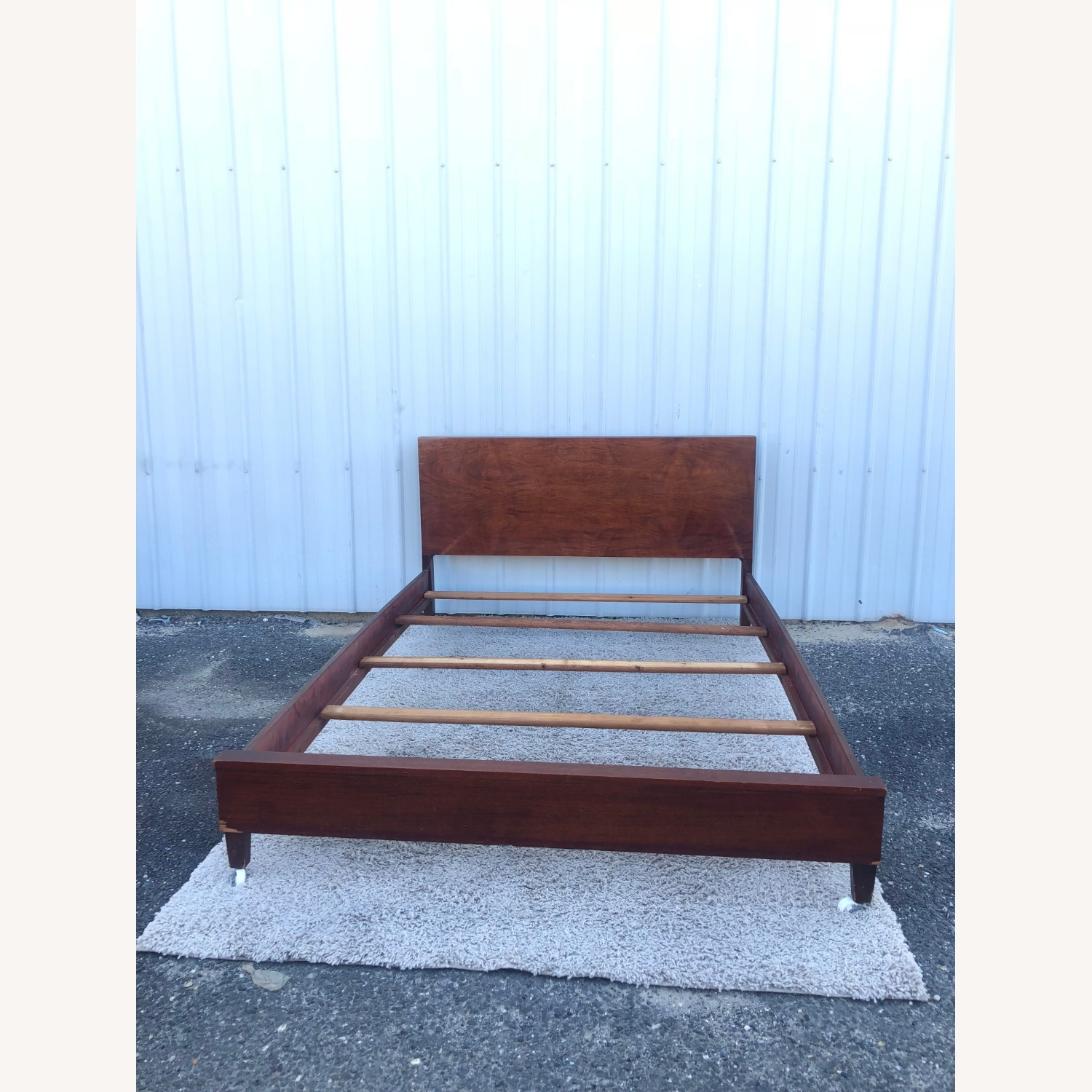 Mid Century Full Size Bed Frame in Mahogany - image-15