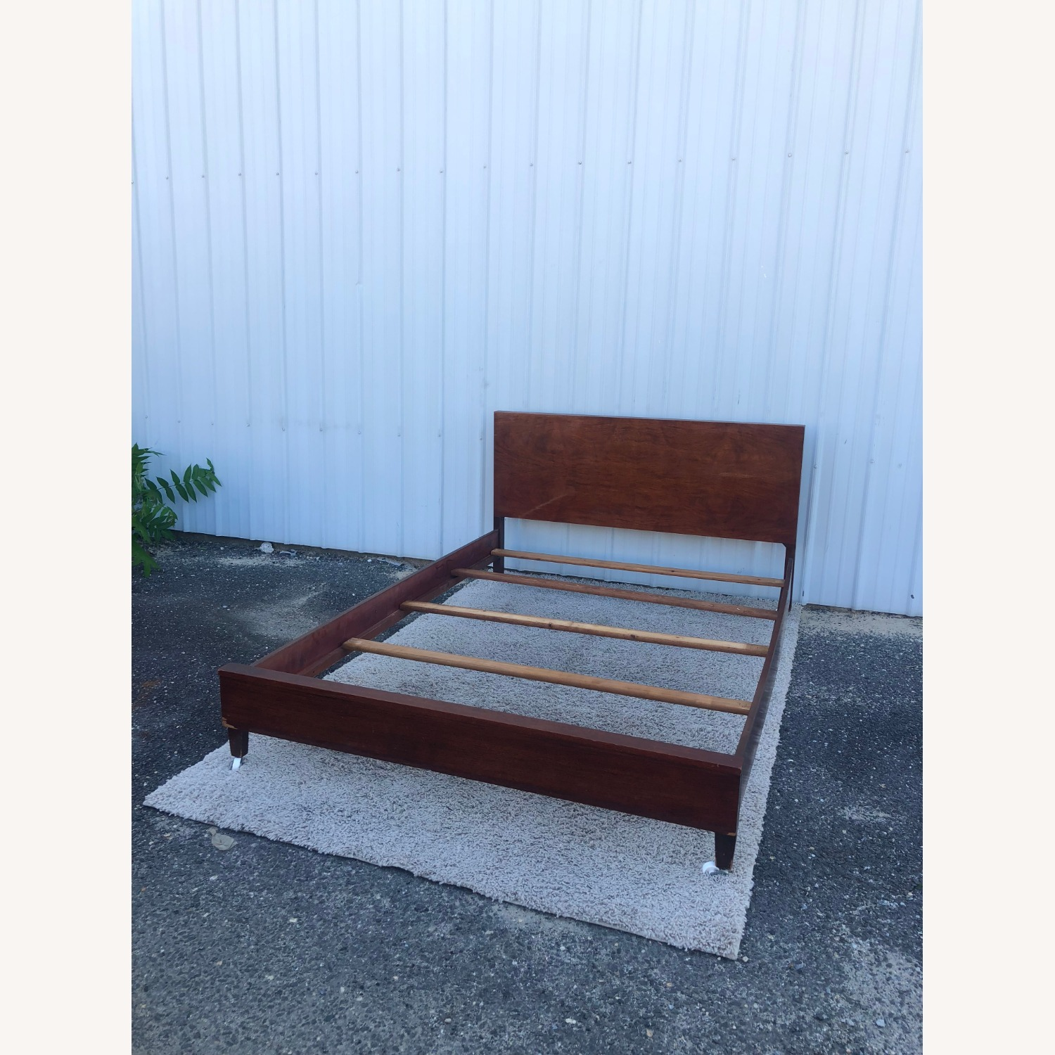 Mid Century Full Size Bed Frame in Mahogany - image-20