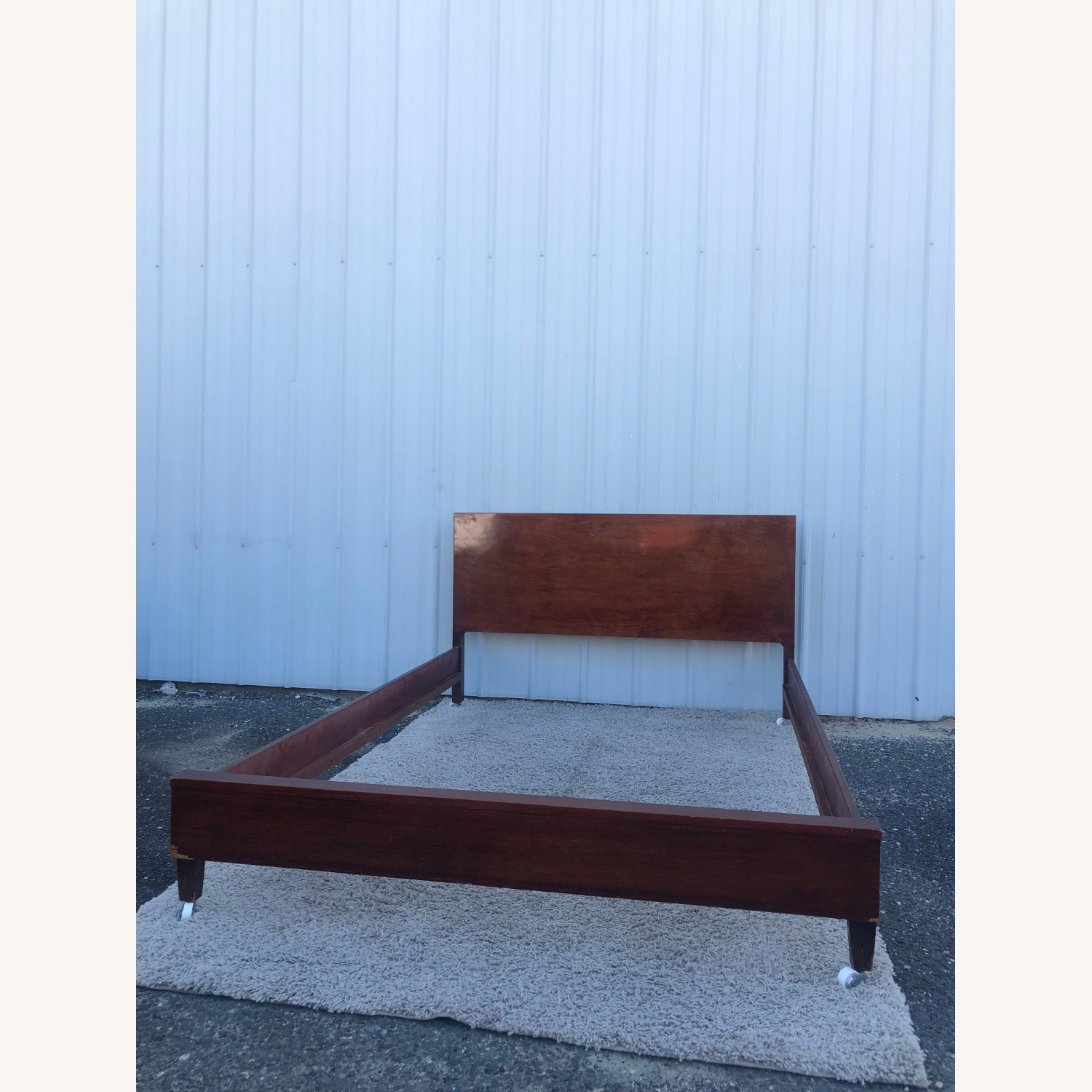 Mid Century Full Size Bed Frame in Mahogany - image-10
