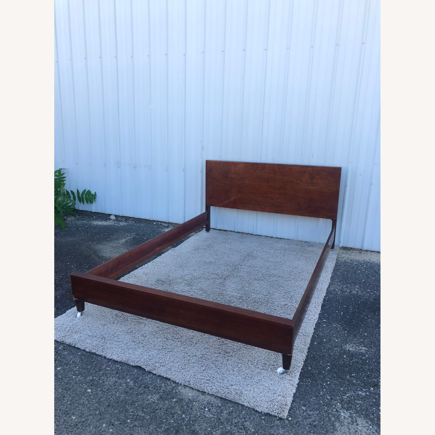 Mid Century Full Size Bed Frame in Mahogany - image-14
