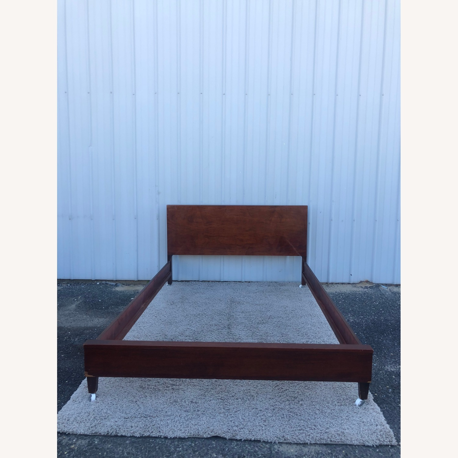 Mid Century Full Size Bed Frame in Mahogany - image-7