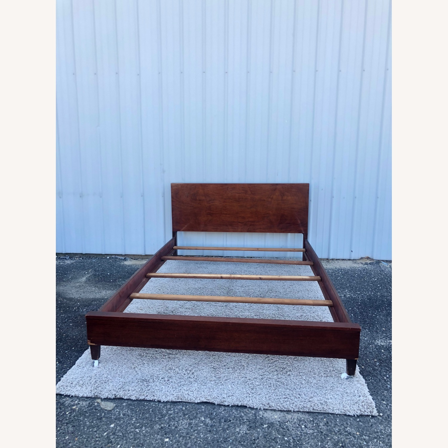 Mid Century Full Size Bed Frame in Mahogany - image-16