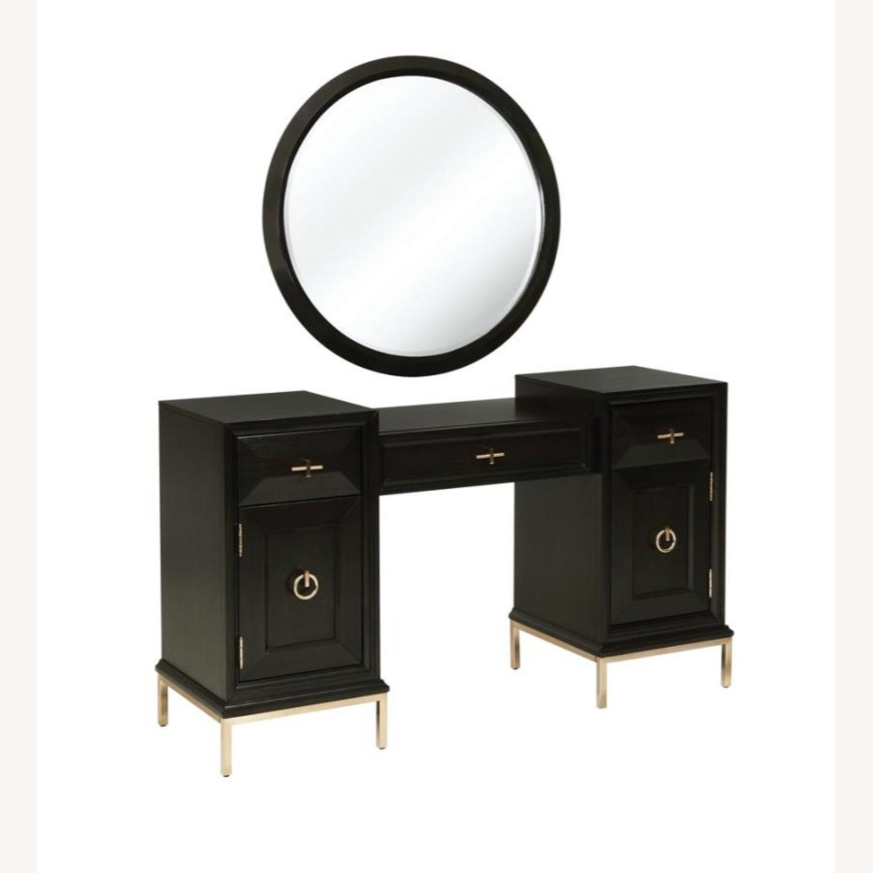 Elegant Vanity Desk In Americano Finish - image-3