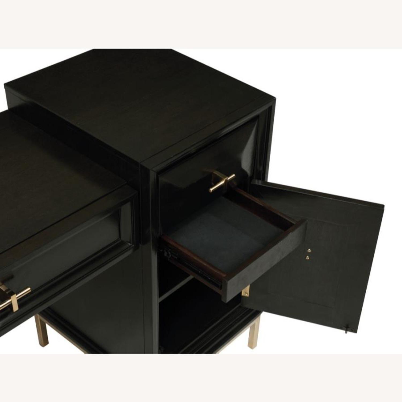 Elegant Vanity Desk In Americano Finish - image-2