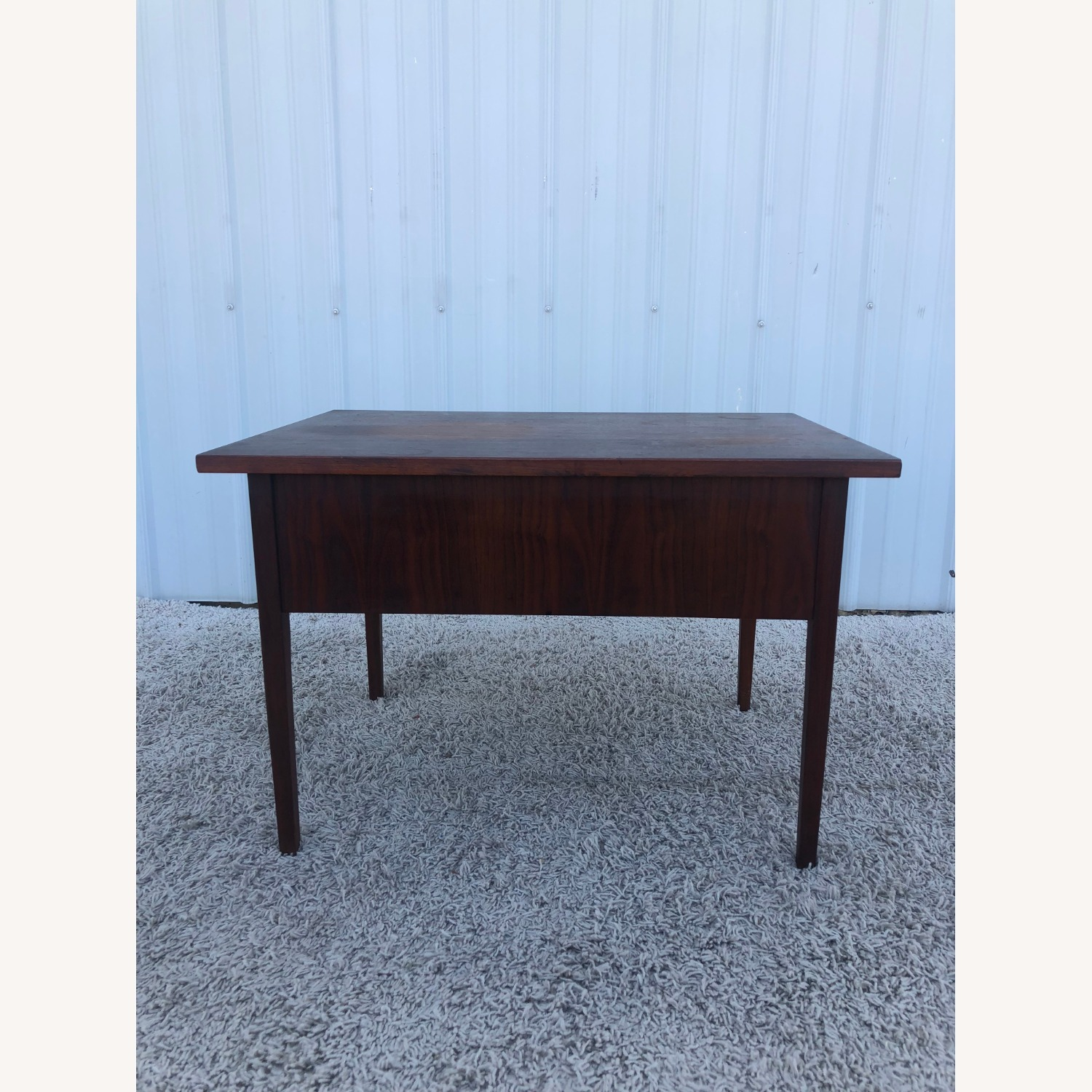 Mid Century Two Drawer End Table - image-12