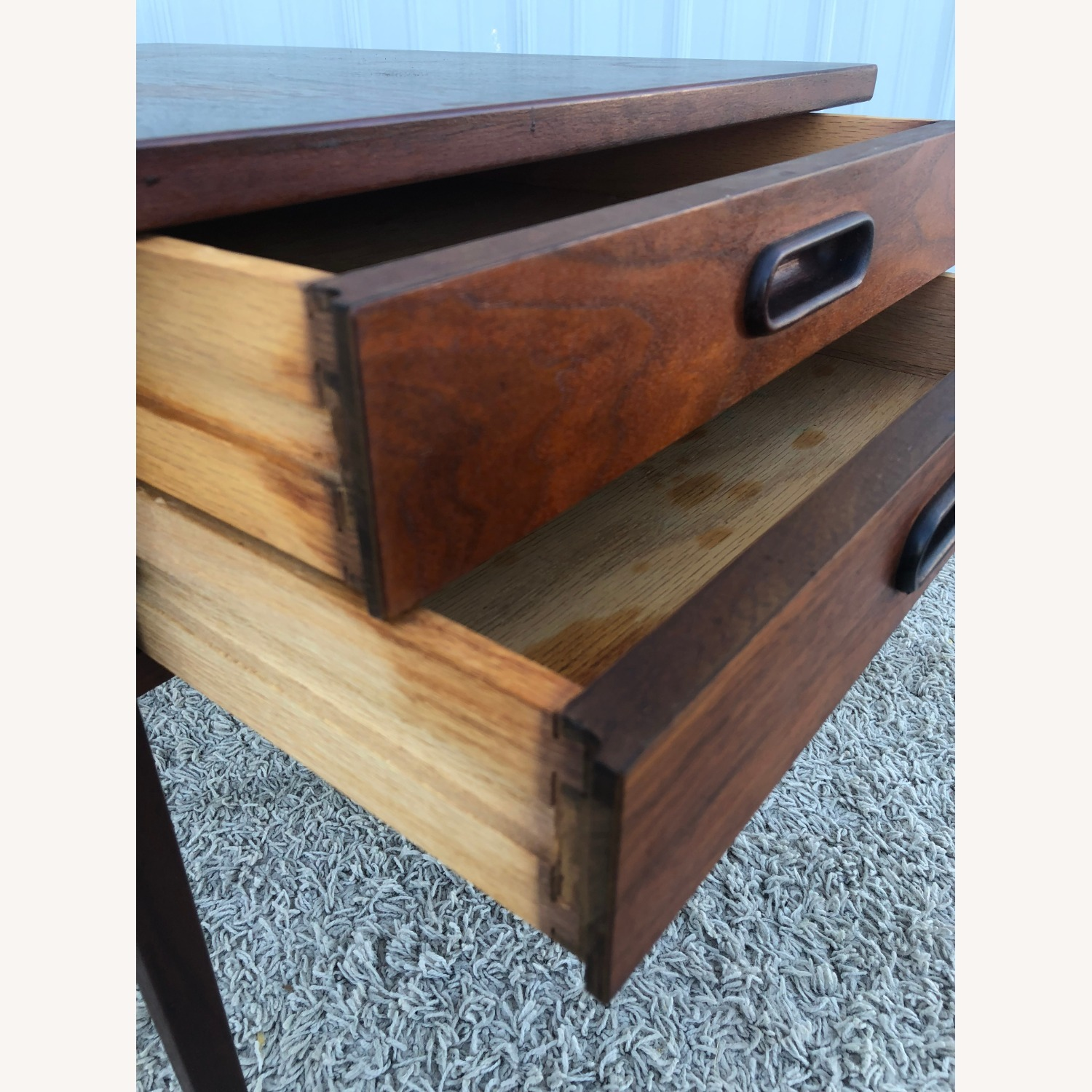 Mid Century Two Drawer End Table - image-9
