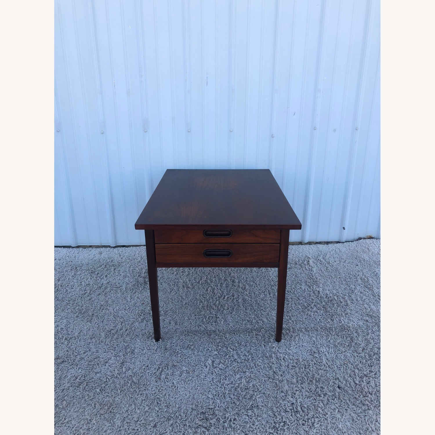 Mid Century Two Drawer End Table - image-3