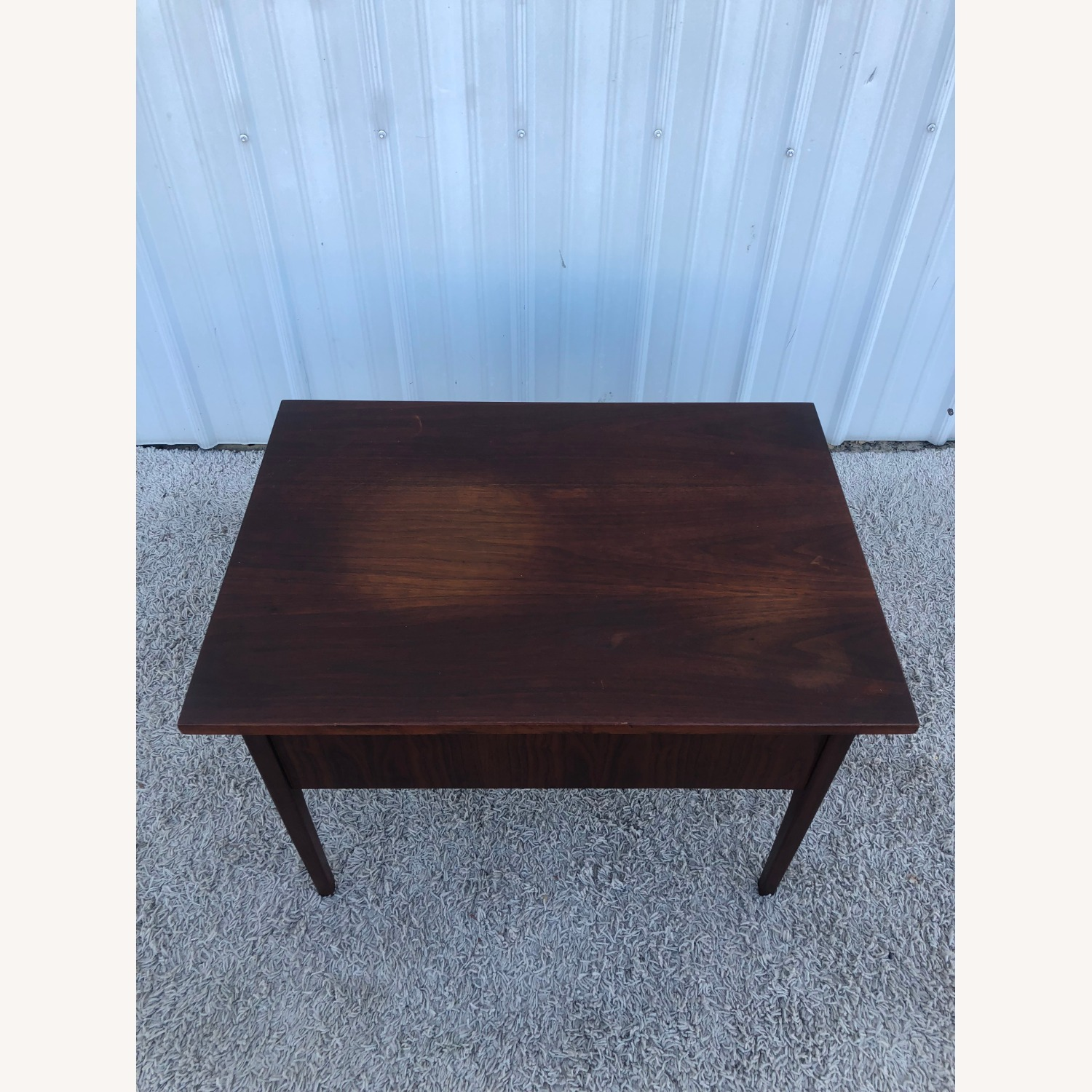 Mid Century Two Drawer End Table - image-16