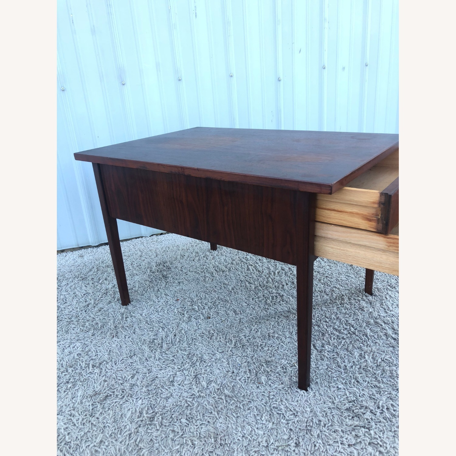 Mid Century Two Drawer End Table - image-11