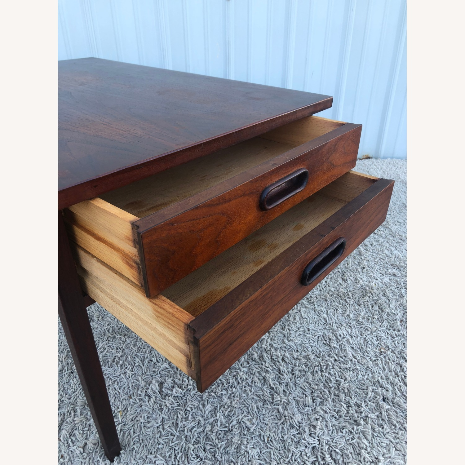 Mid Century Two Drawer End Table - image-8