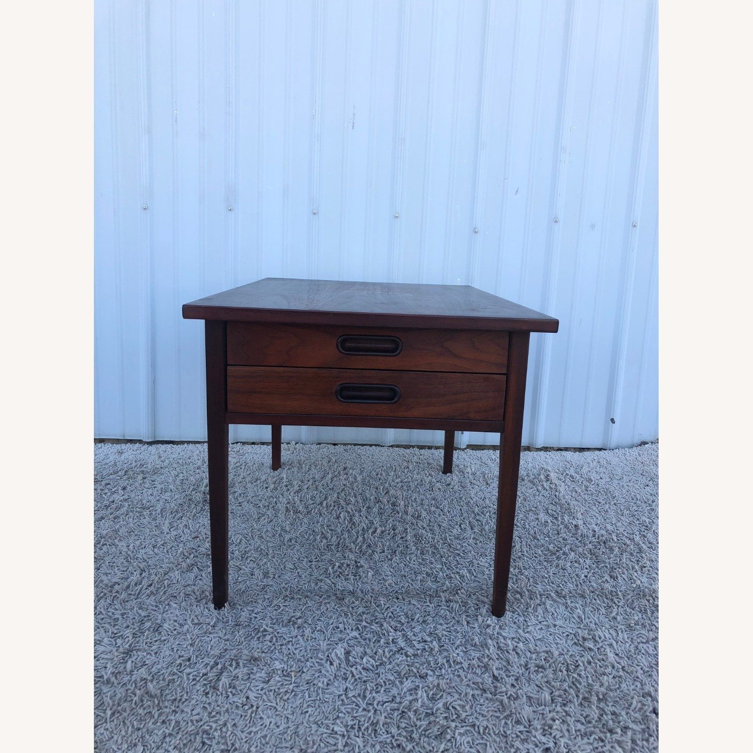Mid Century Two Drawer End Table - image-5