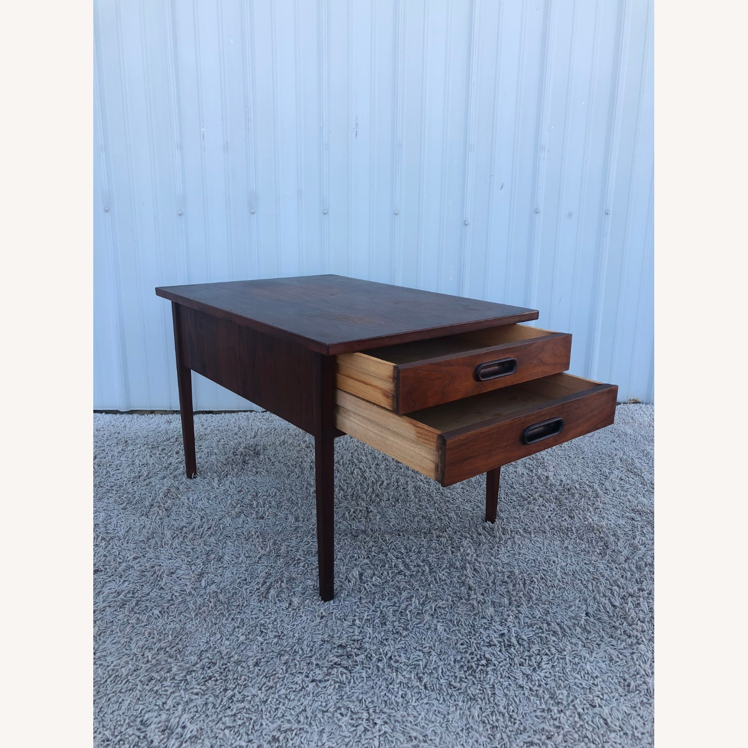 Mid Century Two Drawer End Table - image-15