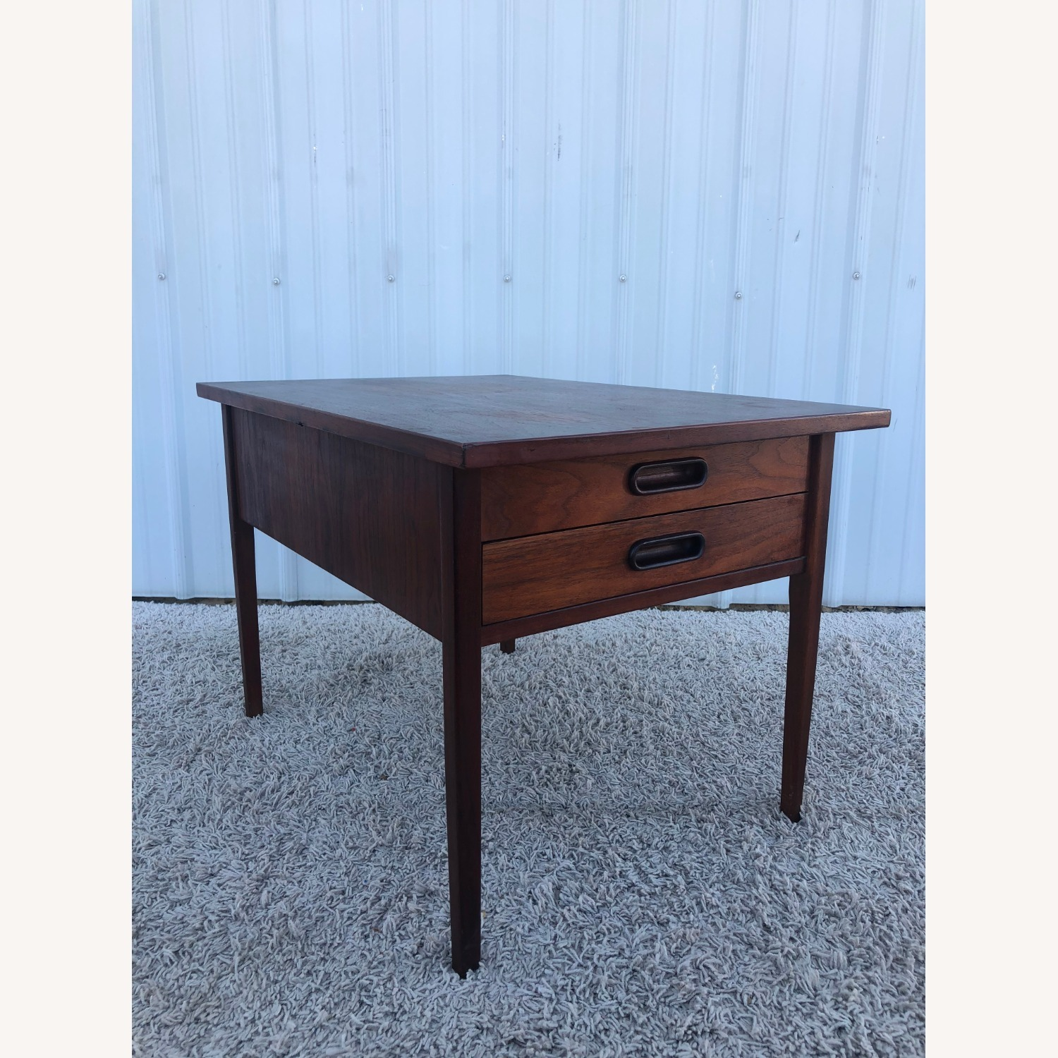 Mid Century Two Drawer End Table - image-6