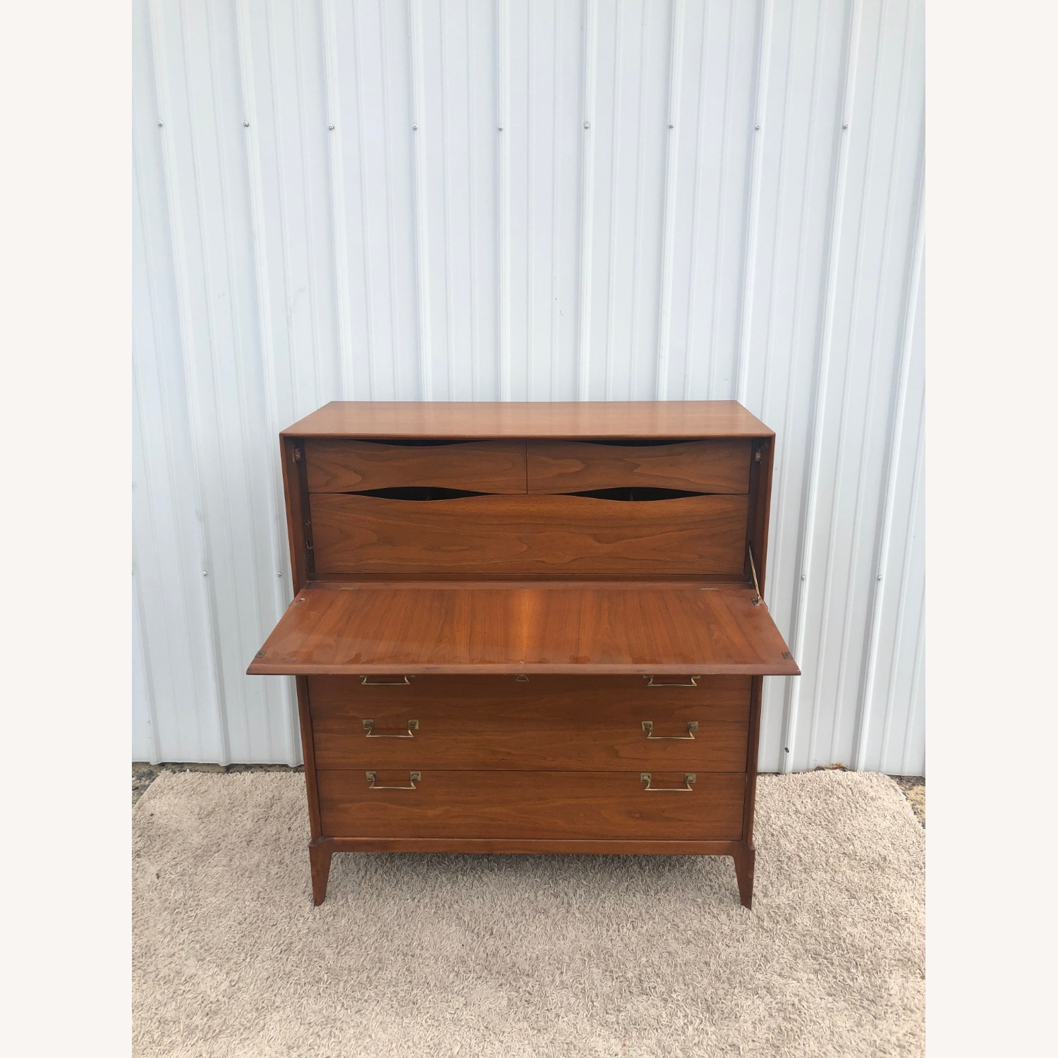 Mid Century Highboy with Inlay & Drop Front - image-8