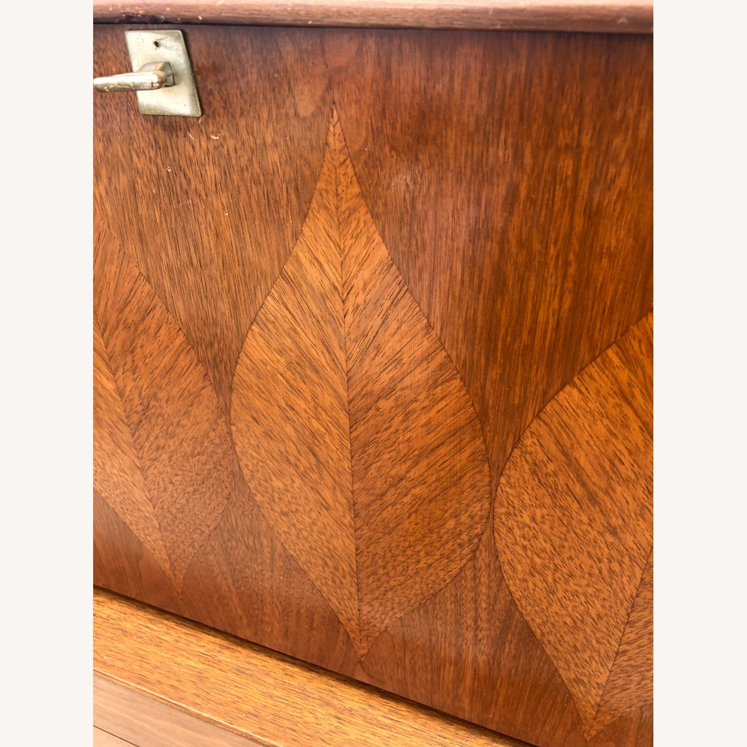 Mid Century Highboy with Inlay & Drop Front - image-25