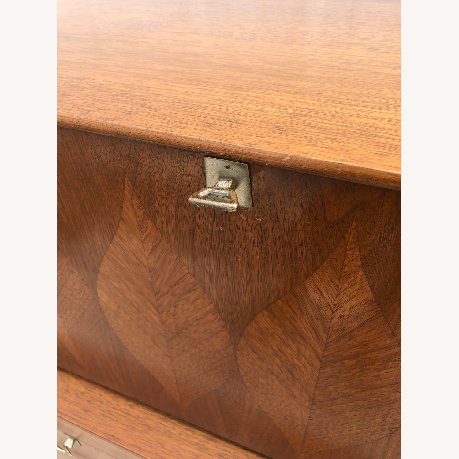 Mid Century Highboy with Inlay & Drop Front - image-24