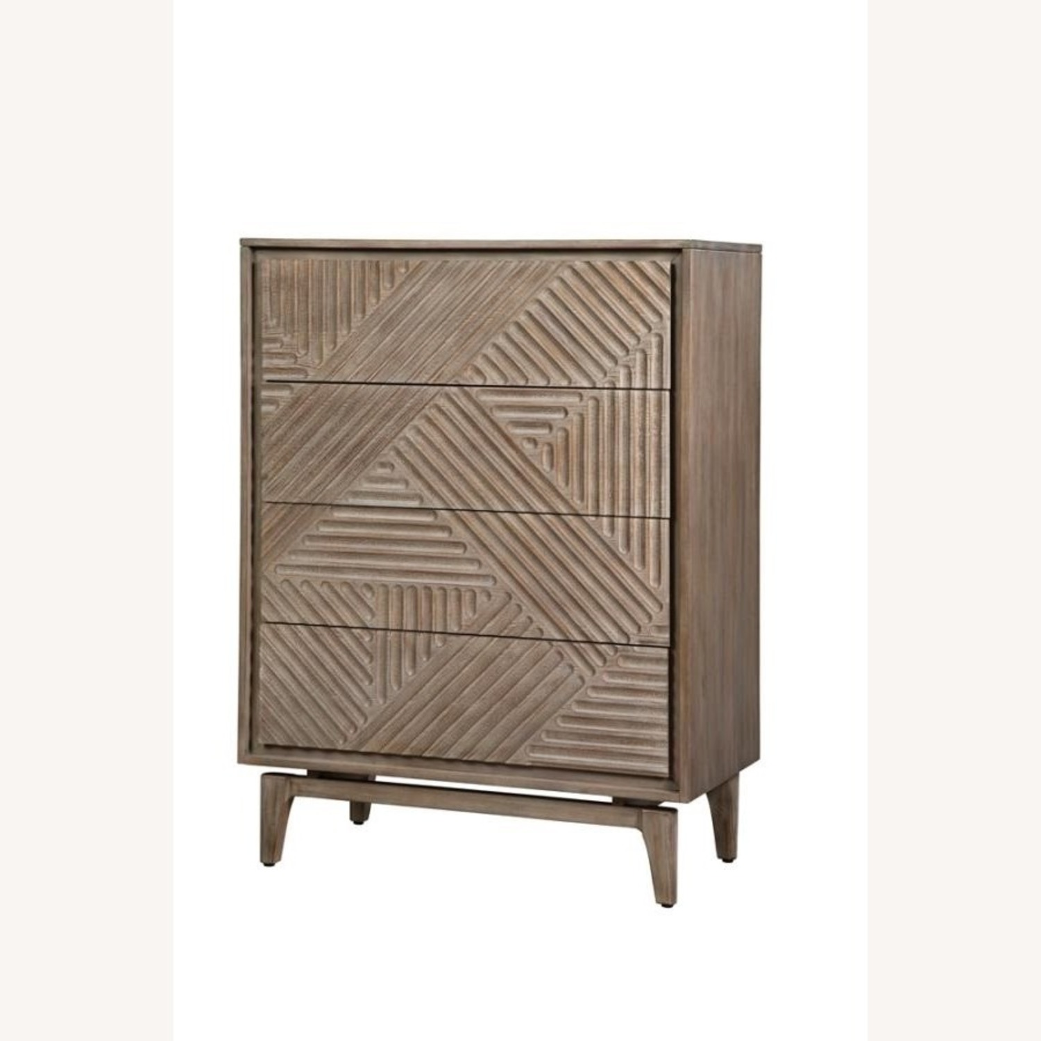 Modern Chest In Sandstone Finish W/ Unique Design - image-1