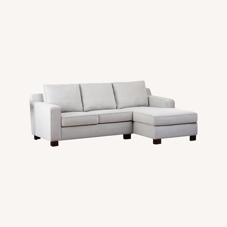 Abbyson Living Regina Grey Fabric Sectional Sofa - image-0