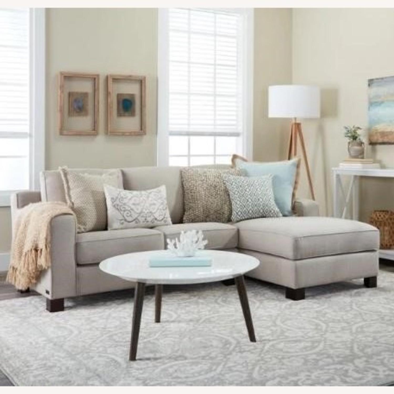 Abbyson Living Regina Grey Fabric Sectional Sofa - image-7