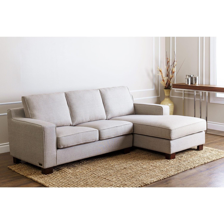 Abbyson Living Regina Grey Fabric Sectional Sofa - image-2