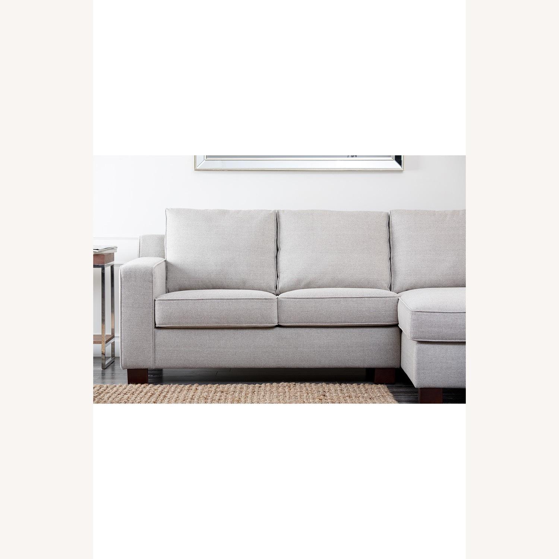 Abbyson Living Regina Grey Fabric Sectional Sofa - image-5