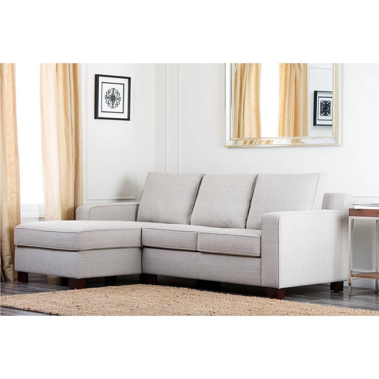 Abbyson Living Regina Grey Fabric Sectional Sofa - image-4