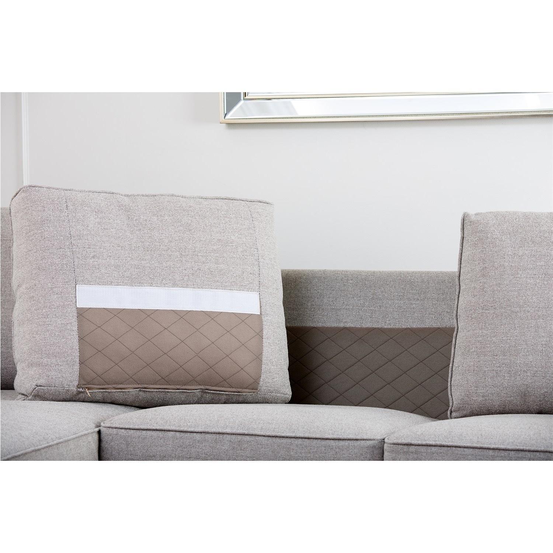 Abbyson Living Regina Grey Fabric Sectional Sofa - image-6