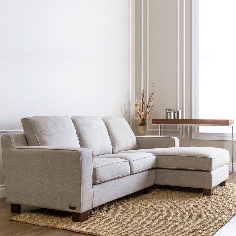 Abbyson Living Regina Grey Fabric Sectional Sofa - image-3