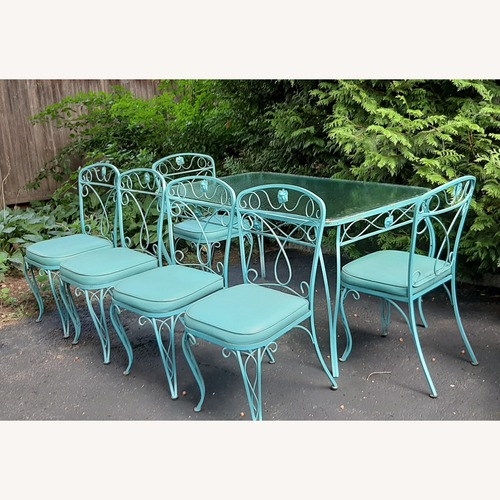 Used Russell Woodard Patio Table and Chairs for sale on AptDeco