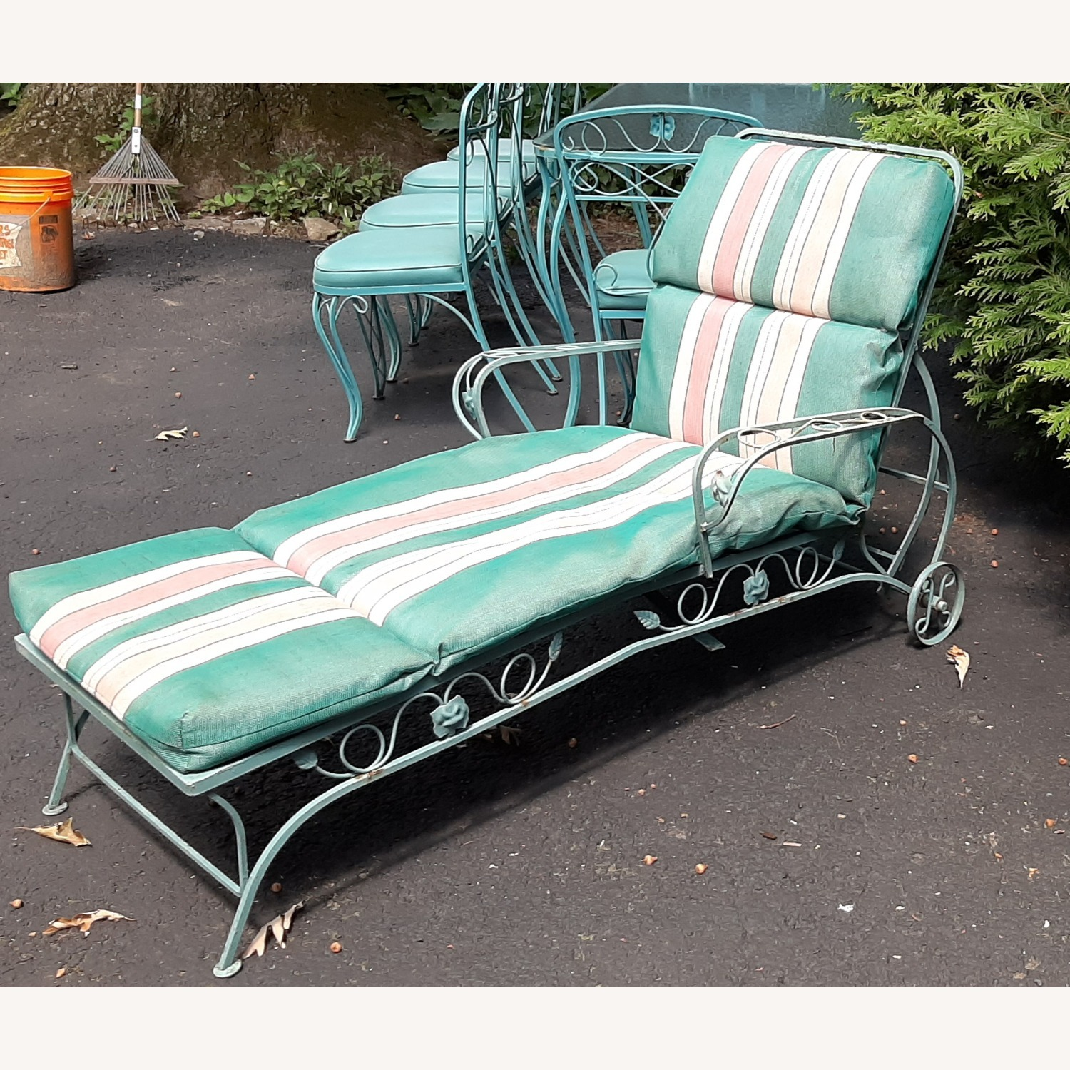 Woodard Patio Chaise Lounge - image-1
