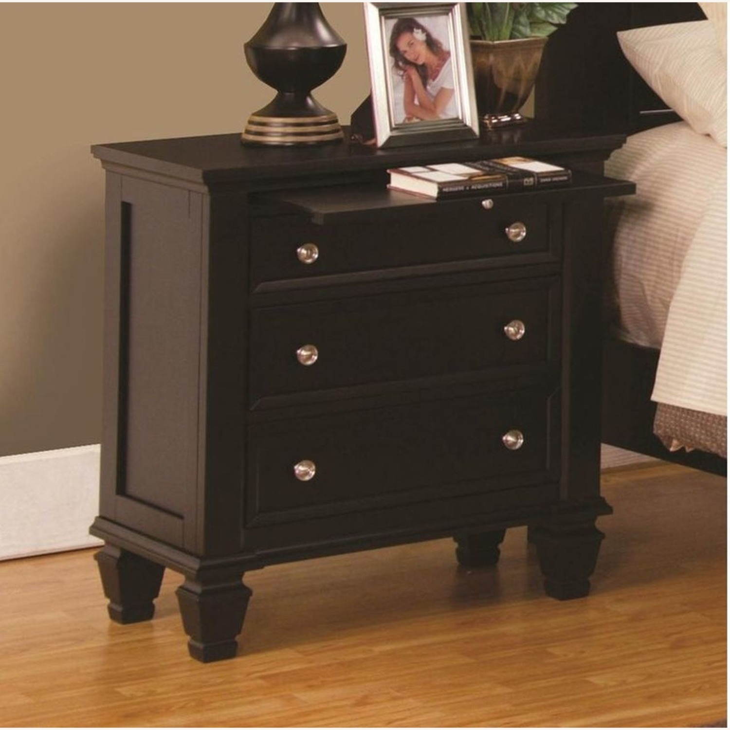 Versatile Nightstand Finished In Cappuccino - image-2