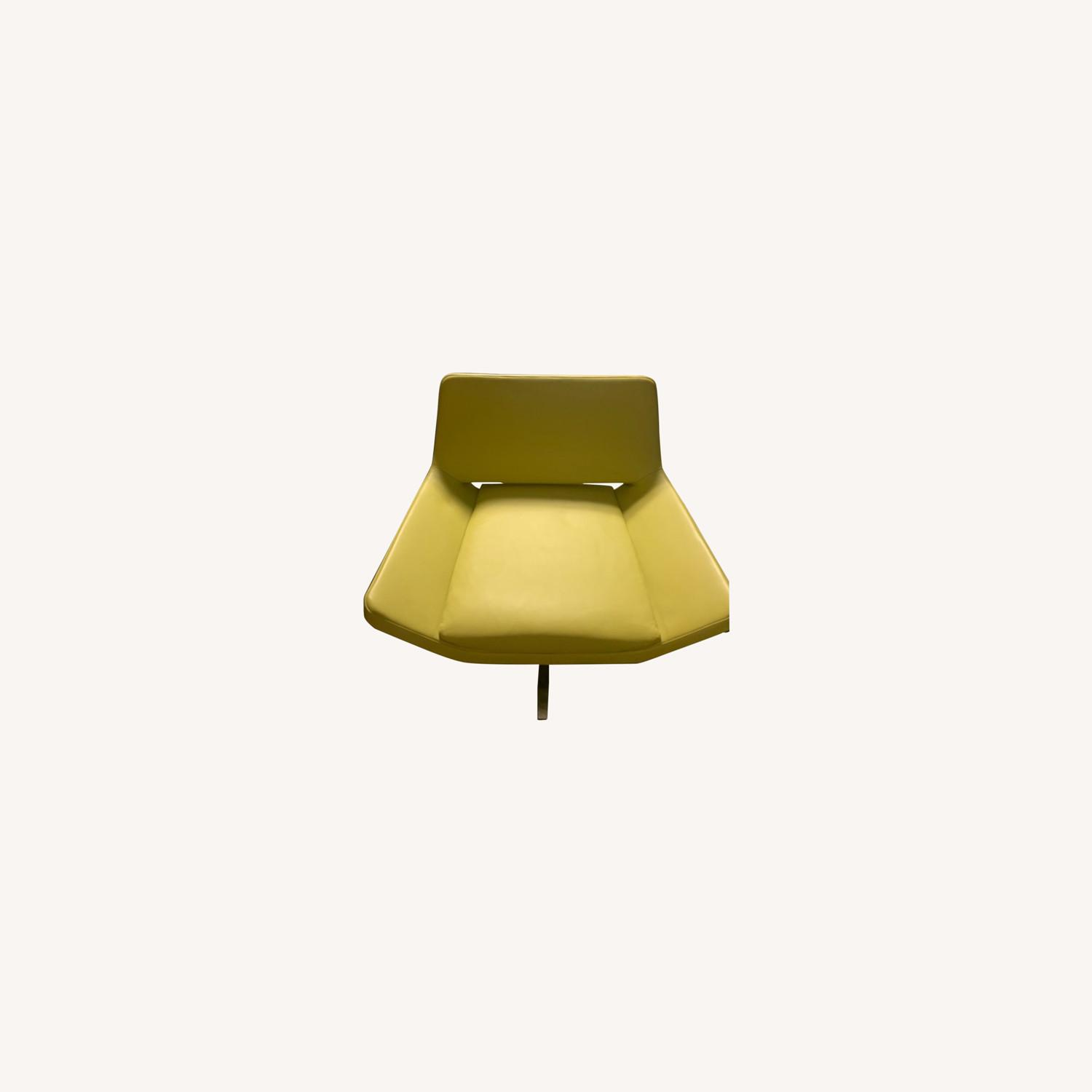 Modern Lime Green Leather Chairs - image-0