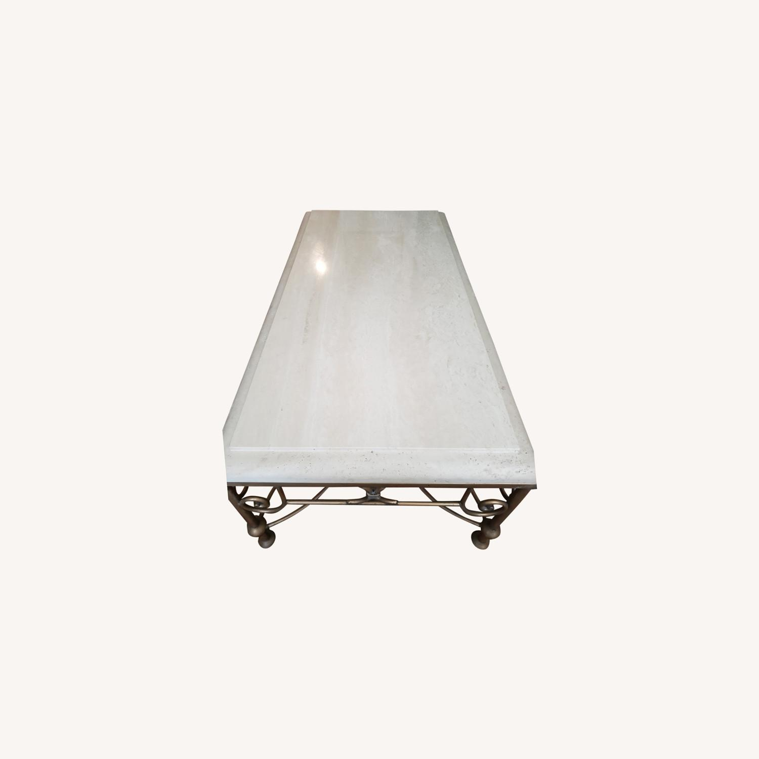 Kreiss Collection Stone and Brass Table - image-0