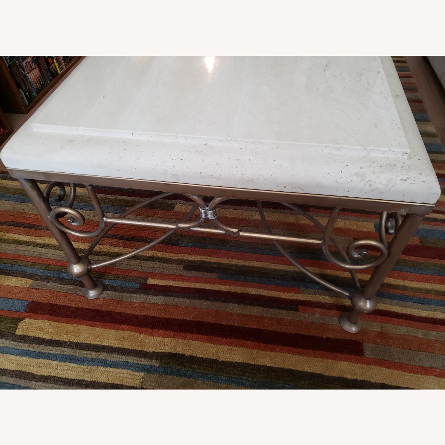 Kreiss Collection Stone and Brass Table - image-2