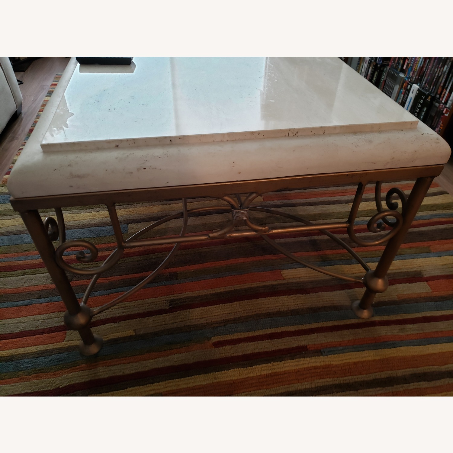 Kreiss Collection Stone and Brass Table - image-3