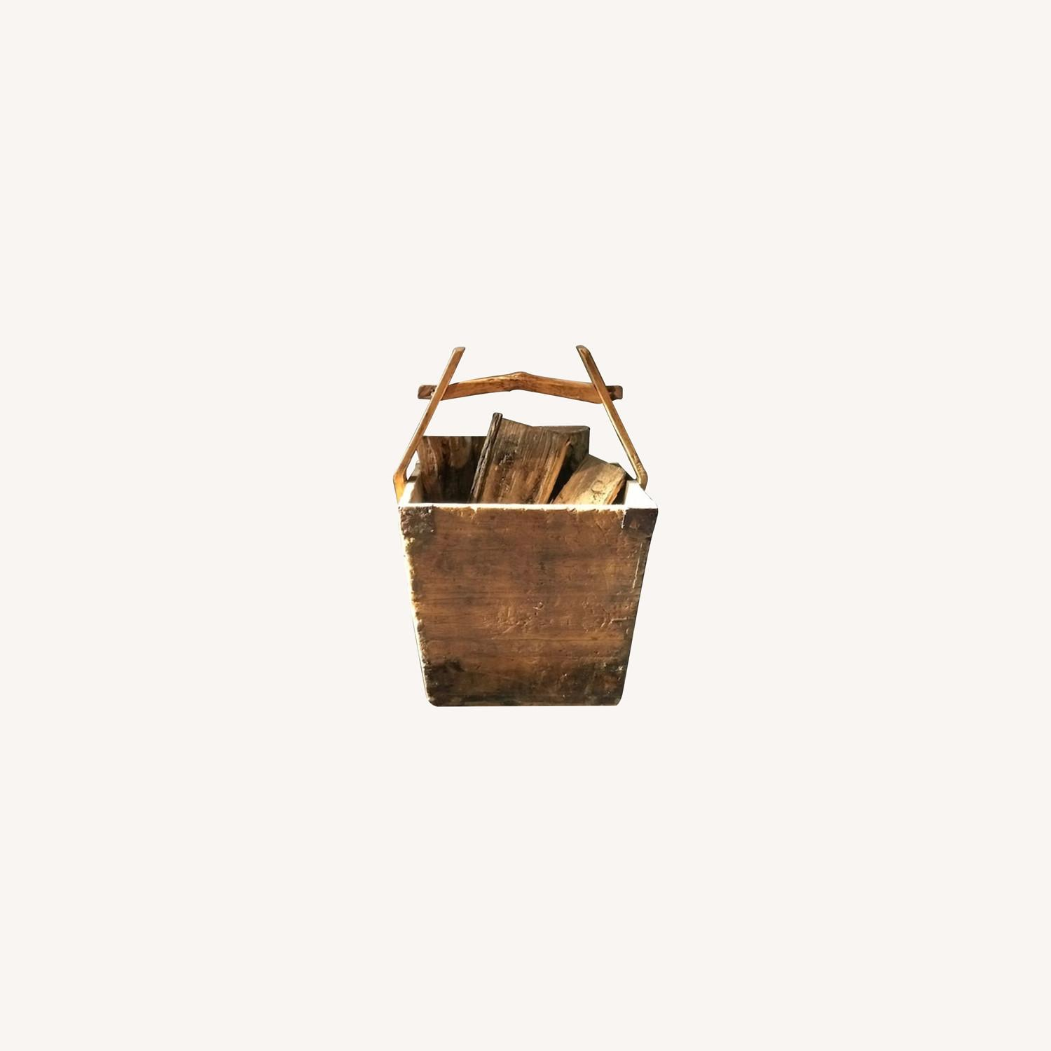Antique Chinese Wood Buckets - image-0
