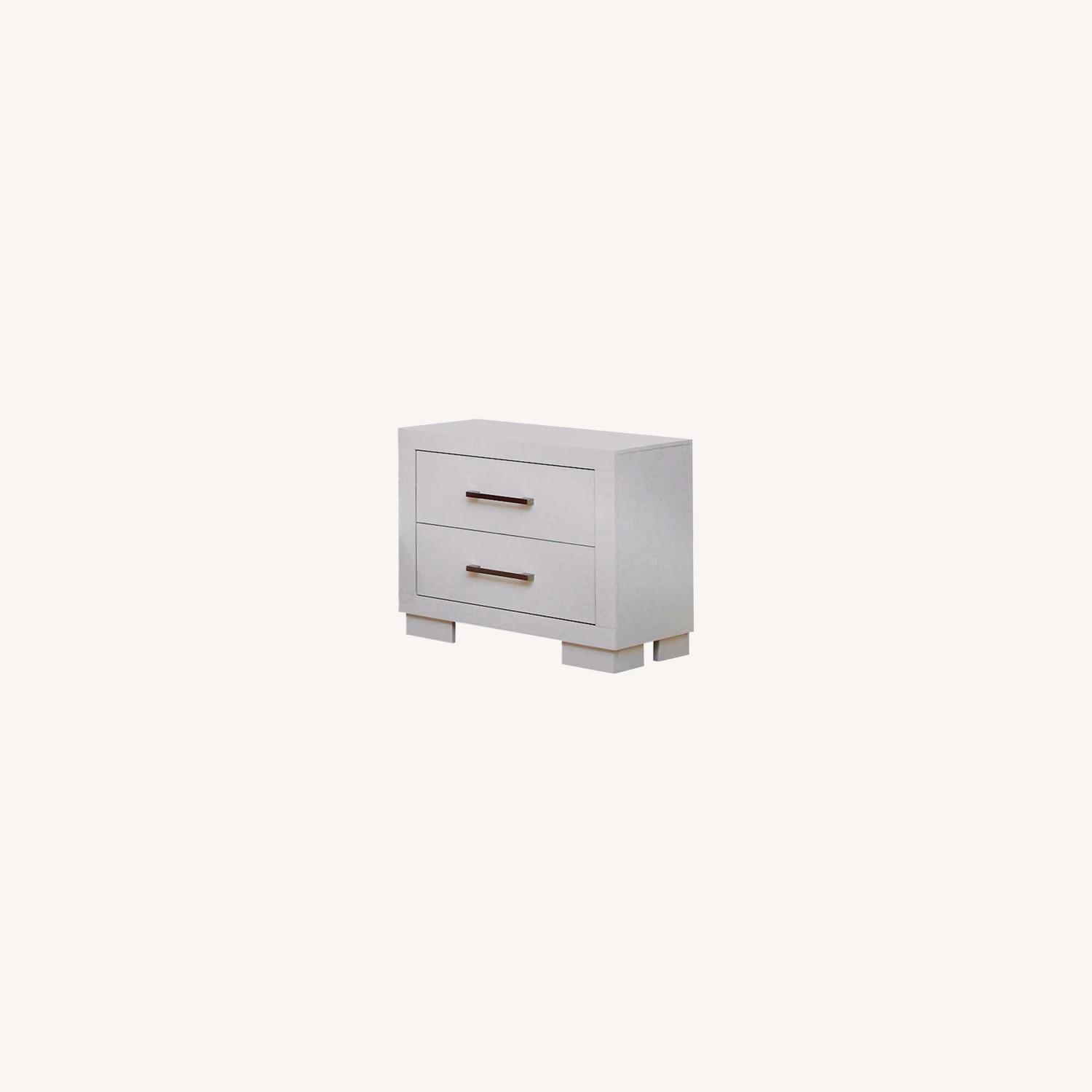 Minimalist Nightstand In White Finish - image-4