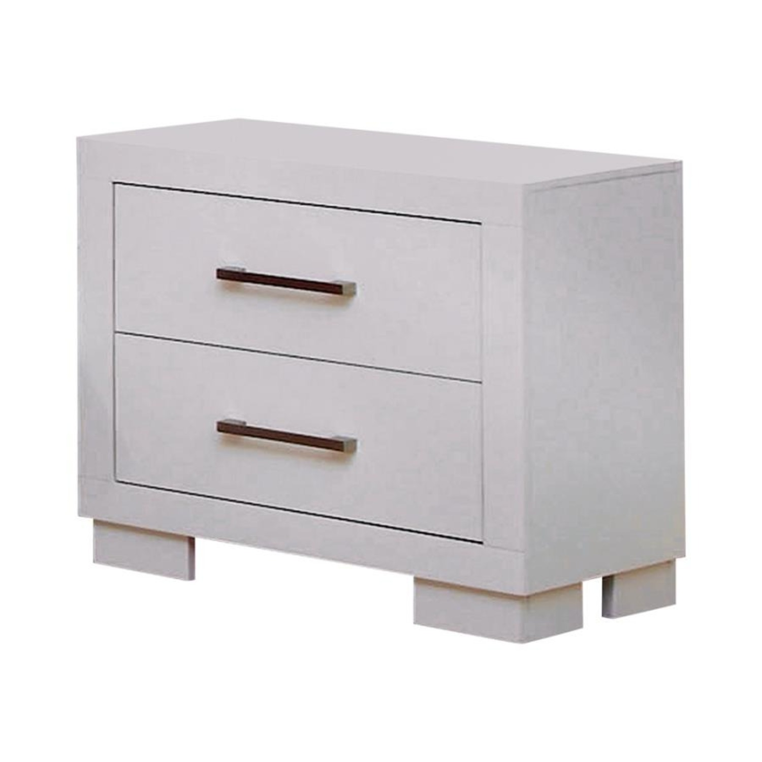 Minimalist Nightstand In White Finish - image-0