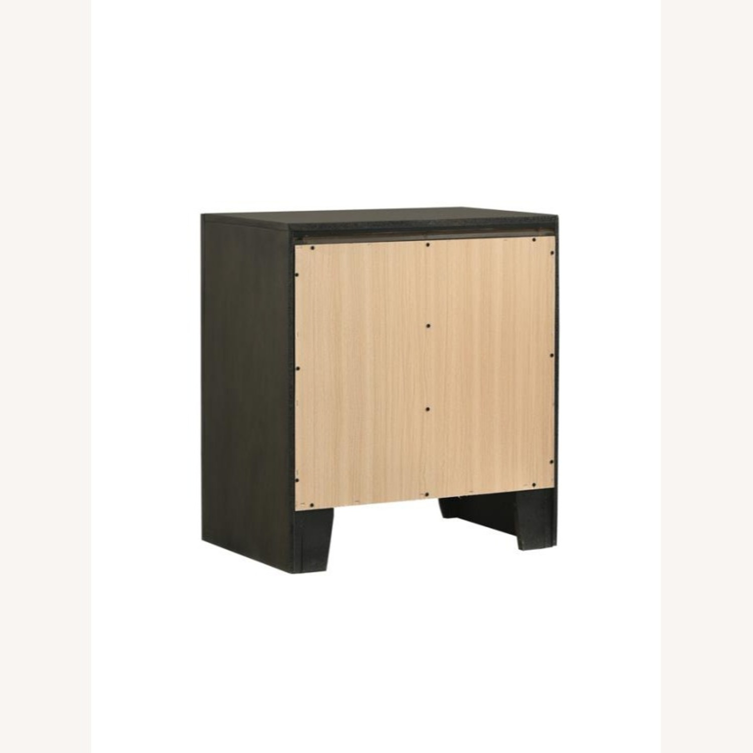 Nightstand In Mod Grey Finish W/ 3D Bow Tie Fronts - image-3