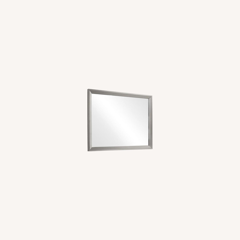 Mid Century Mirror In Glamorous Metallic Sterling - image-6