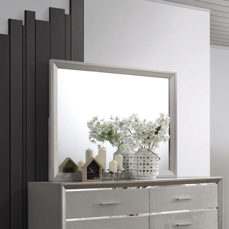 Mid Century Mirror In Glamorous Metallic Sterling - image-4