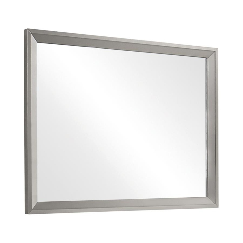 Mid Century Mirror In Glamorous Metallic Sterling - image-0