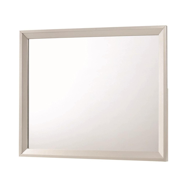 Mid Century Mirror In Glamorous Metallic Sterling - image-1