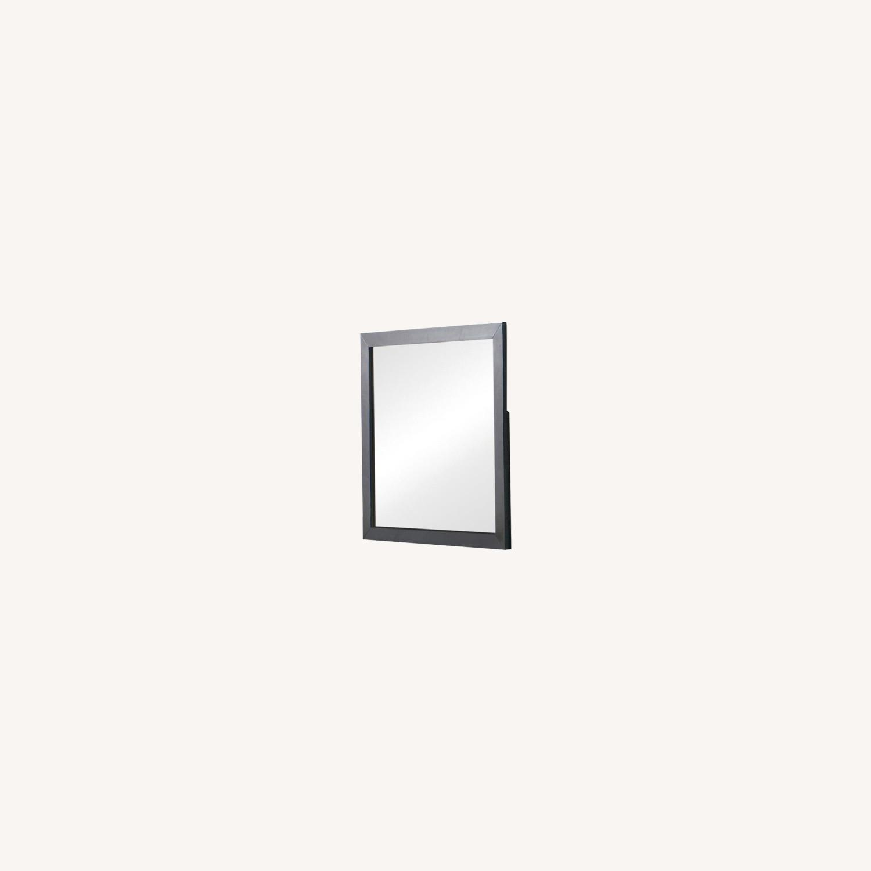 Rectangular Mirror In Rich Black Finish - image-4