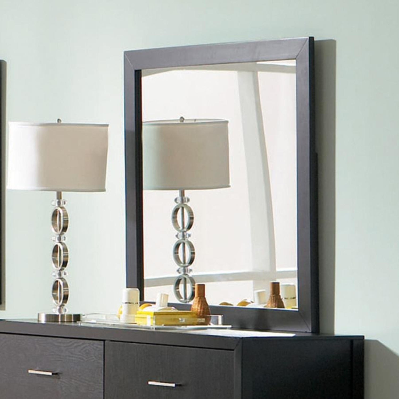 Rectangular Mirror In Rich Black Finish - image-1