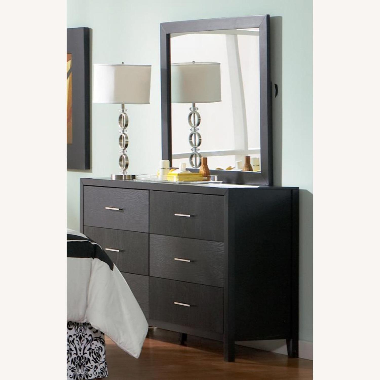 Rectangular Mirror In Rich Black Finish - image-2