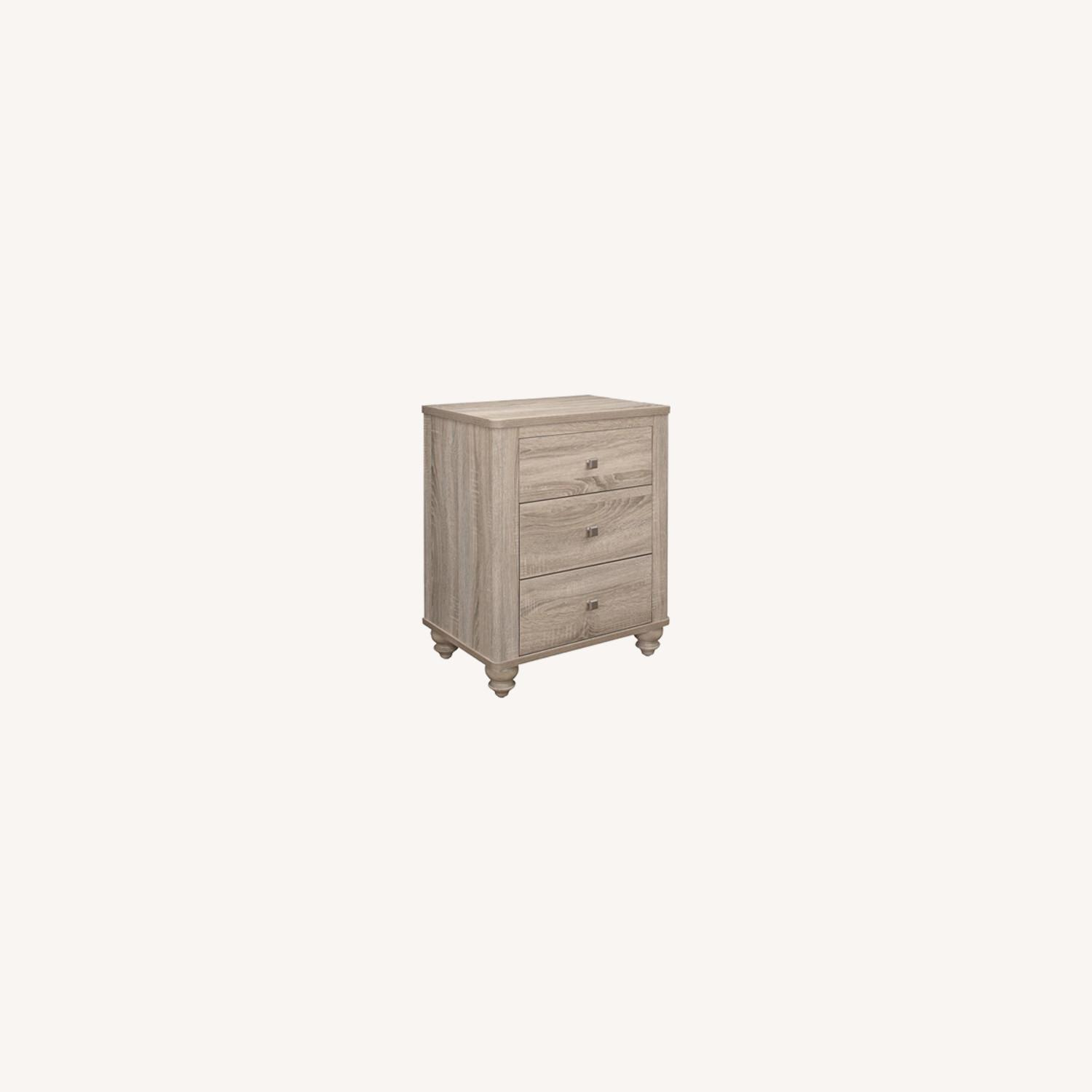 3-Drawer Nightstand In Natural Oak Finish - image-6